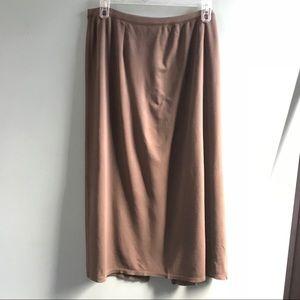 Sigrid Olsen Long Maxi Skirt Elastic Waist 2X